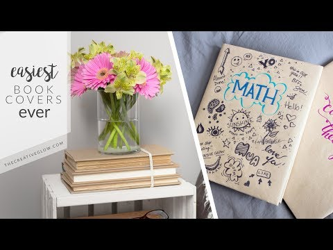 Super Easy Book Covers || School & Home Decor
