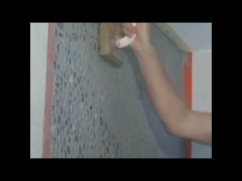 How to Install Pebble Tiles Lux4home - Install a Pebble Tile Accent Wall: Installation