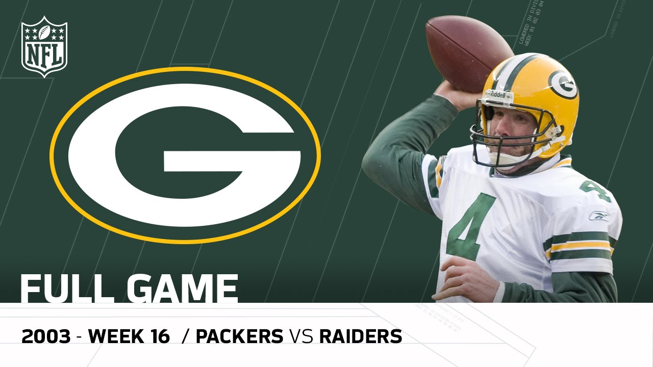 Full Game: Brett Favre Plays on MNF After His Dad's Passing   Packers vs. Raiders   NFL