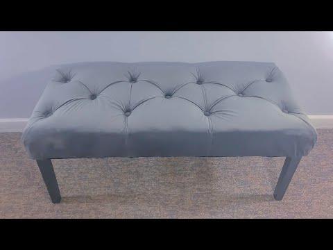 DIY Velvet Tufted Bench