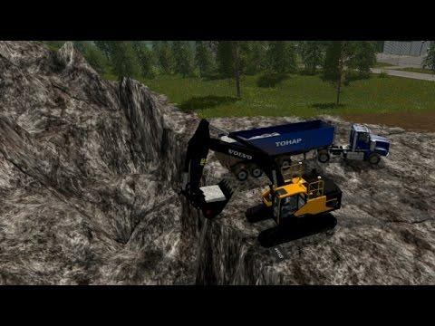 Farming simulator 17 - Hauling tar and stone, Mining #13