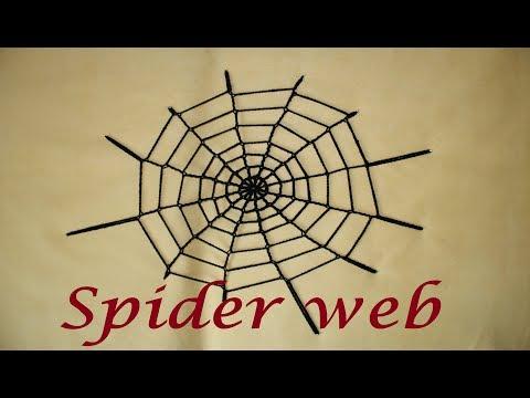 Easy Crochet Spider Web Decoration for Halloween