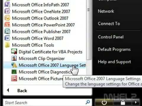 How to Change primary editing language in Microsoft Word 2007