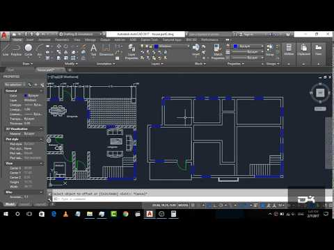Basic House Plan drawing in AutoCad 2017 | Part-3 | 2D Basics Step by step