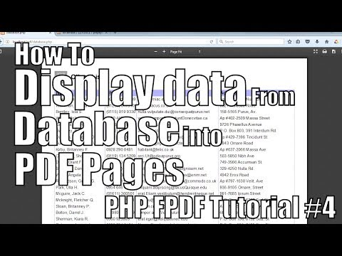 How to display data from database into PDF pages | PHP FPDF Tutorial #4