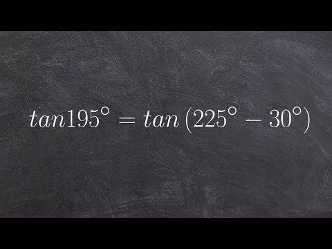 Evaluating for the tangent of an angle using the difference formula, tan