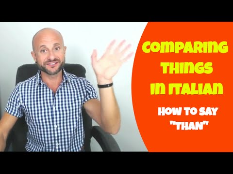 Learn Italian Phrases, Grammar and Culture Q&A - How to Compare Things Italian [Ask Manu Italiano]