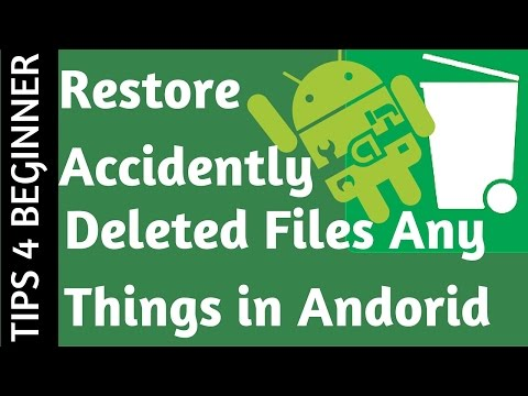 How to Recover Deleted Files from Android | Restore Images Video n audio  |Recycle bin for android