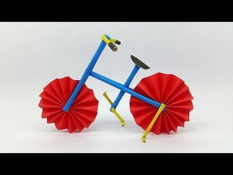 How to make a Bicycle using colors paper | DIY Paper Cycle and Paper Bike