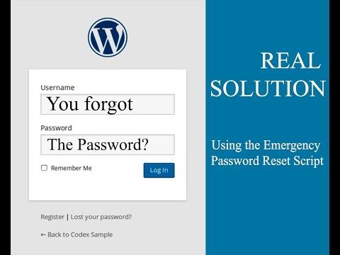 How to reset WordPress admin password [Solved]