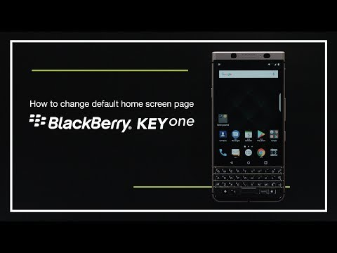 How to change default homescreen page on BlackBerry KEYone