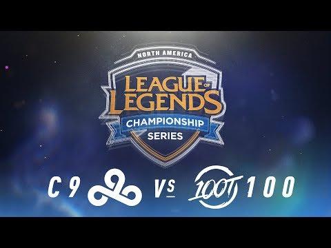 C9 vs. 100 - Week 2 Day 2 | NA LCS Spring Split | Cloud9 vs. 100 Thieves(2018)