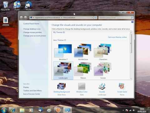 Windows 7 - Changing A Theme