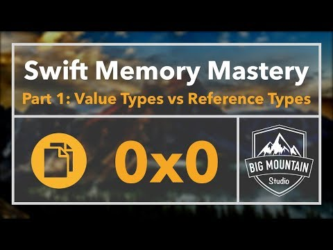 Memory 1 - Value Types vs Reference Types (iOS, Xcode 9, Swift 4)