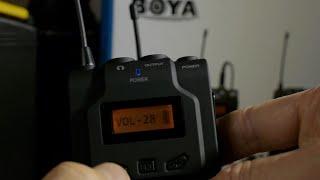 UHF WIRELESS MICROPHONE SYSTEM BOYA BY-WM6
