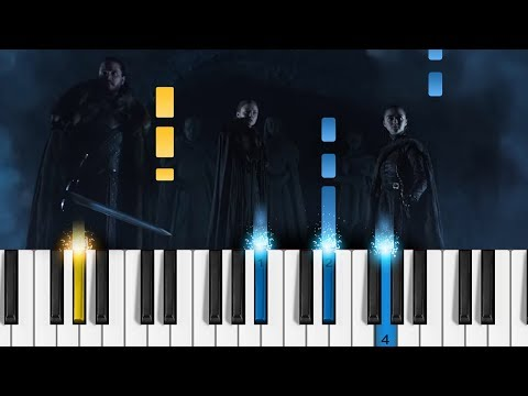 Game of Thrones: Crypts of Winterfell (Season 8 Official Tease) - EASY Piano Tutorial