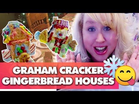 SO FUN! Graham Cracker Gingerbread Houses + Royal Icing Recipe | VIRTUAL COOKIE EXCHANGE COLLAB