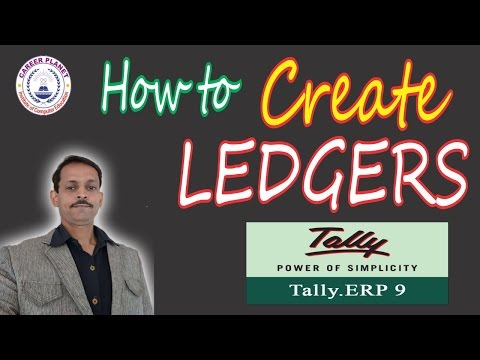 How to Create Ledgers in Tally ERP 9 Day-5 (Hindi) | ledger creation in tally erp 9