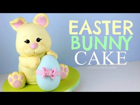 How to Make a 3D Easter Bunny Cake - Laura Loukaides