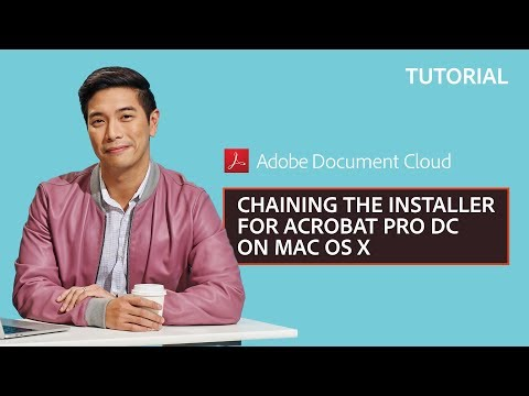 Chaining the Installer for Acrobat Pro DC on Mac OS X