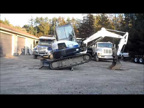 How To: Go Over Obstacle With Mini Excavator