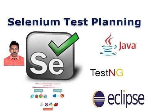 3.1 Selenium Test Planning