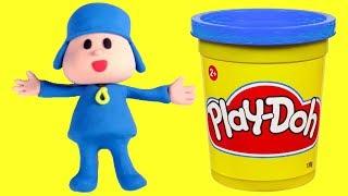 Pocoyo Stop motion play doh cartoon video for babies