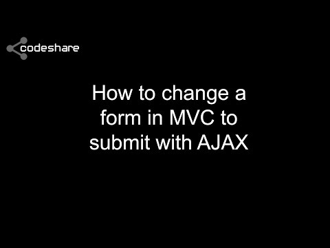 How to change a form in MVC to submit with AJAX