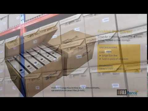 Store your non-active paper files at FILEforce box storage warehouse at low rentals!