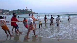 Kovalam Beach Tradional Fishing, Kerala