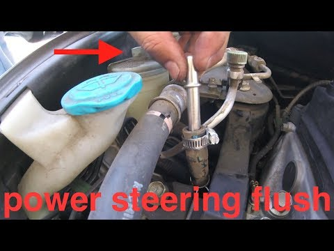 SIMPLE FLUSH Procedure POWER steering Honda Civic√ fix it angel