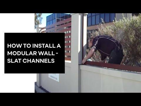 Modular Wall Systems Slat Channel installation www.modularwalls.com.au