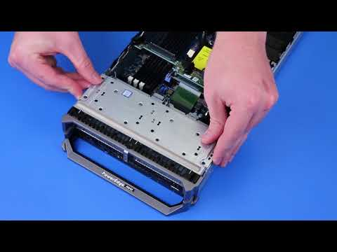 Dell EMC PowerEdge M640: Remove/Install Hard Drive Backplane