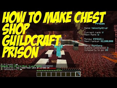 How to Make A Sell Shop/Chest Shop GuildCraft :MInecraft