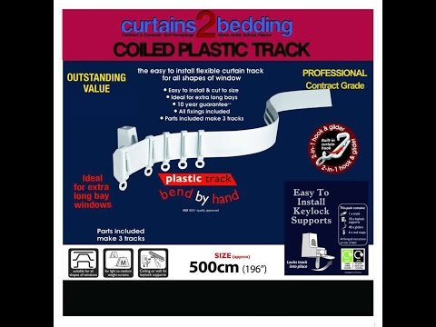 Curtains2bedding Curtain Track - Plastic Coiled Curtain Track