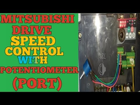 Mitsubishi drive potentiometer connection and speed control with port