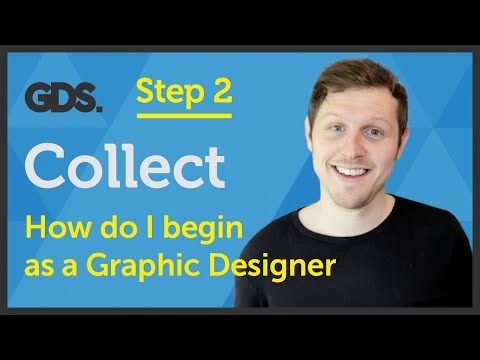 'Collect' How do I begin as a Graphic Designer? Ep23/45 [Beginners Guide to Graphic Design]