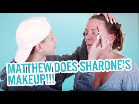 MATTHEW DOES SHARONE'S MAKEUP!!!