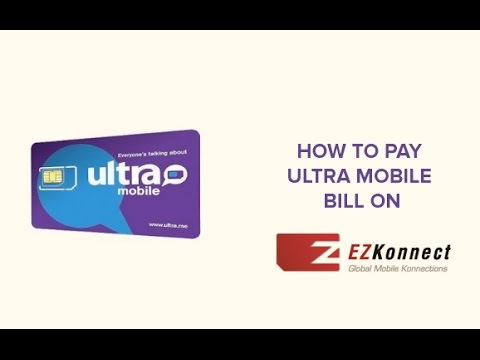 How To Pay Ultra Mobile Bill On EZKonnect.com