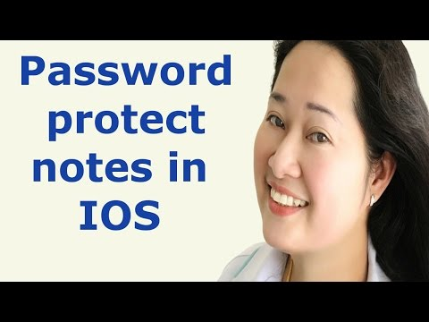 how to lock notes in IOS 11 and IOS 10 and 9 - password protect notes in IOS