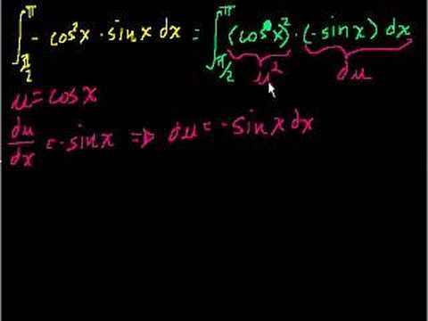 Definite integral with substitution