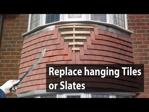 How to Replace hanging Roof Tiles or hanging Slates