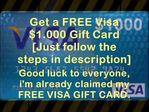 How To Get Free $1000 Visa Gift Card Exclusive   2014