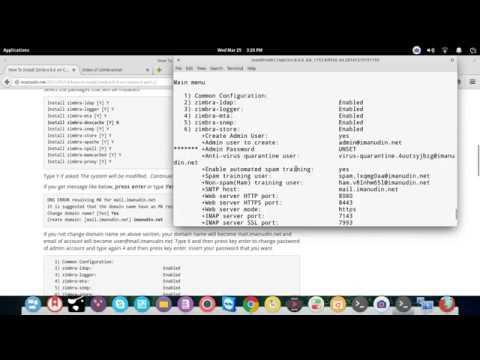 Installing Zimbra 8.6 on Operating System CentOS 6 64 Bit