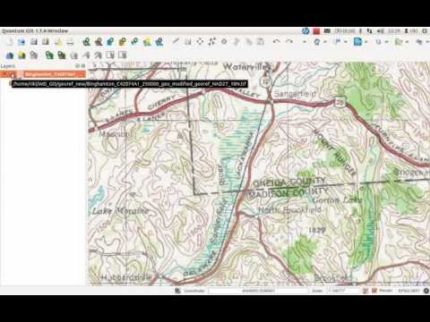 quick and dirty: georeference a map in QGIS