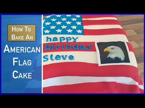 how to bake an american flag cake with a bald eagle