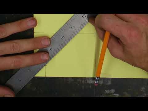 Sheet Metal Marking Gauge Layout on Paper