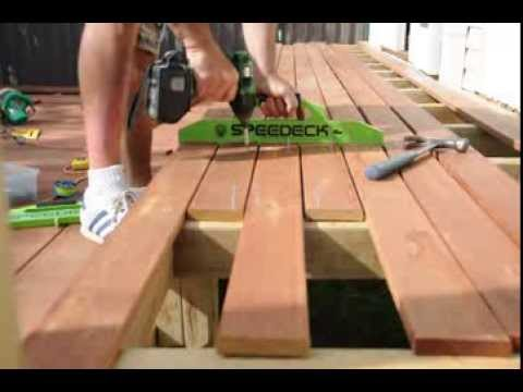 Speedeck Tools in use - laying the middle boards