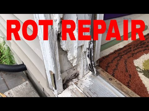 How to repair door jam rot