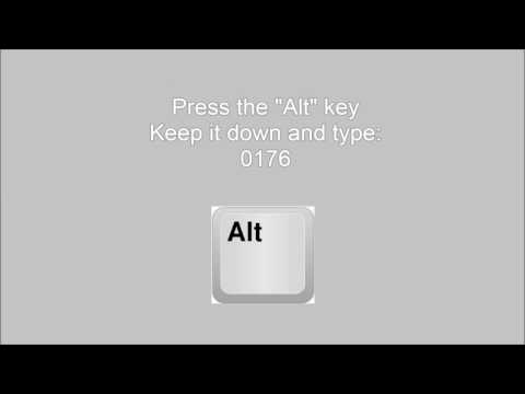 How to type a degree symbol on the keyboard (°C / °F)